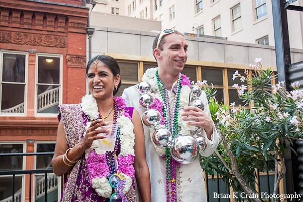 Ceremony in New Orleans, LA Indian Fusion Wedding by Brian K Crain Photography