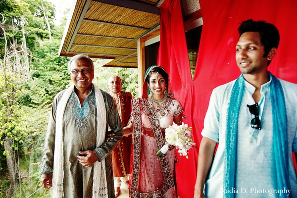 Ceremony in Manuel Antonio, Costa Rica Indian Destination Wedding by Nadia D. Photography