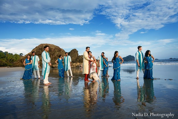 Portraits in Manuel Antonio, Costa Rica Indian Destination Wedding by Nadia D. Photography
