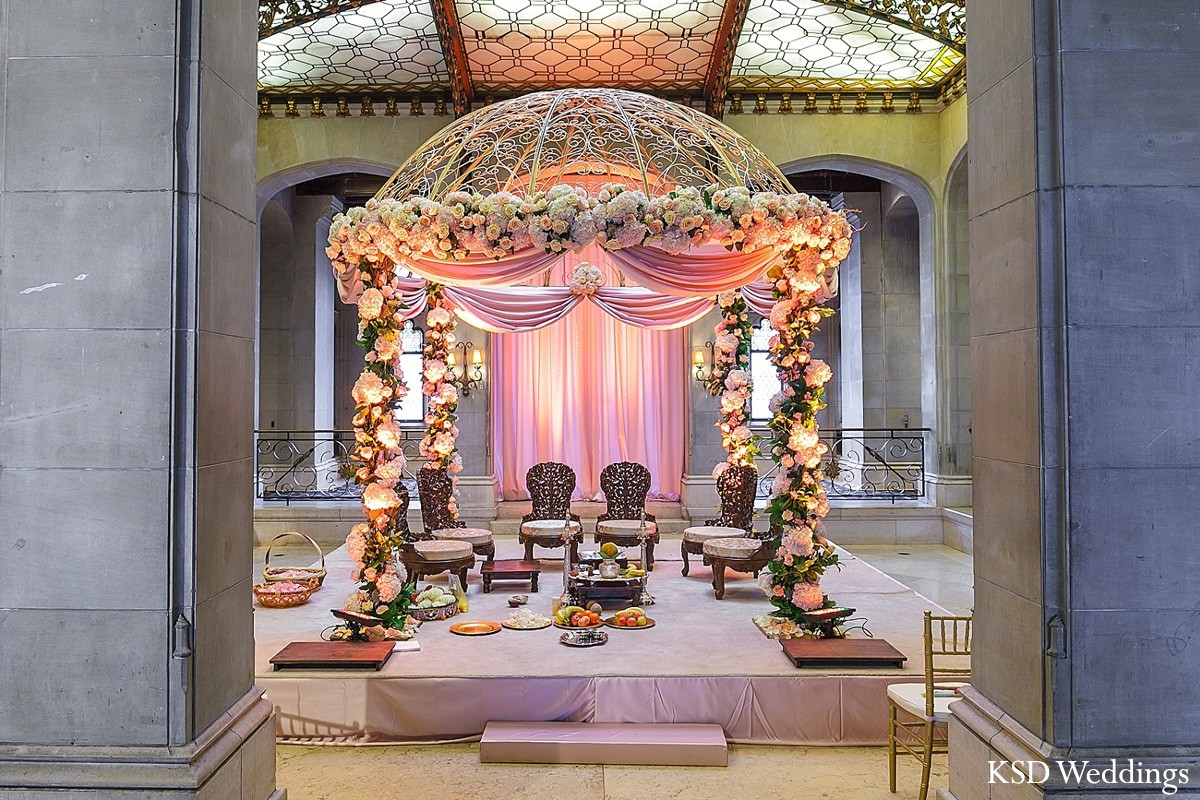indian wedding decorators mandap in island ny indian wedding by ksd weddings 5097