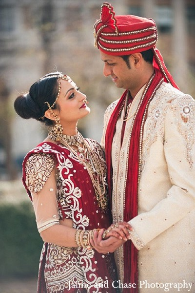 Portraits in Tulsa, OK Indian Wedding by Jaime and Chase Photography
