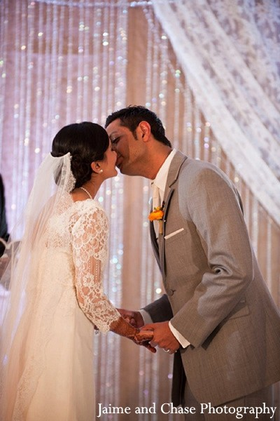 Ceremony in Tulsa, OK Indian Wedding by Jaime and Chase Photography