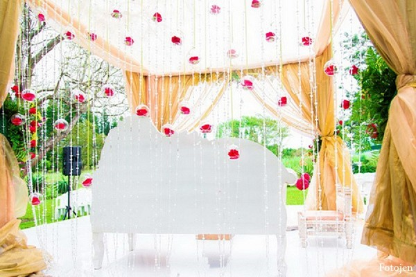 Mandap in Ballitoville, South Africa Indian Wedding by Fotojen
