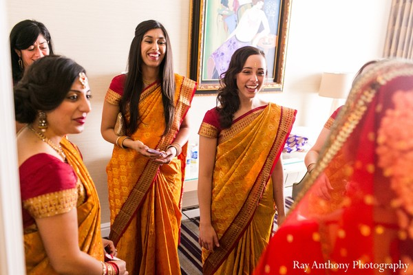 Bridal Party in Dearborn, MI Indian Wedding by Ray Anthony Photography