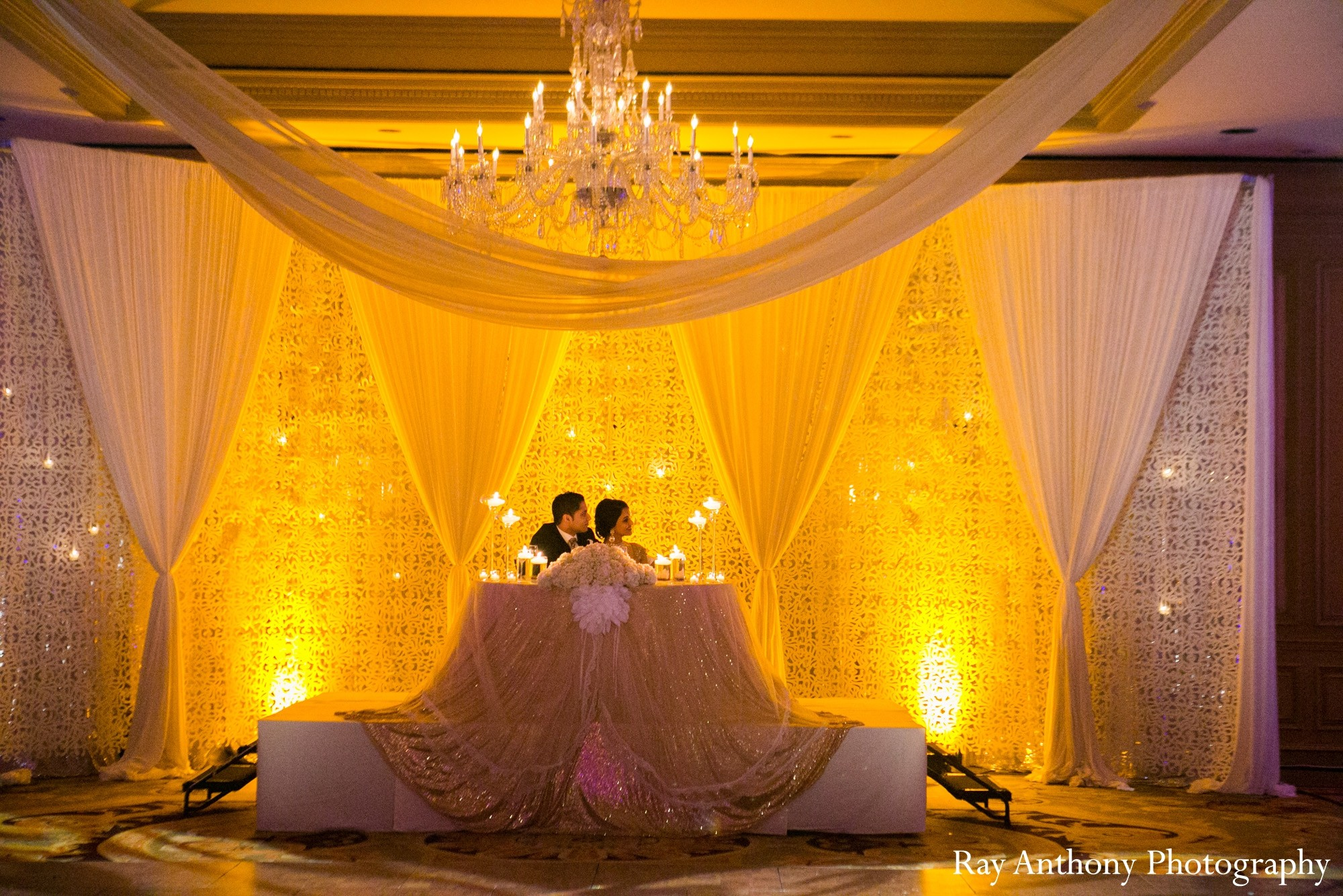 Reception in Dearborn, MI Indian Wedding by Ray Anthony ... for Indian Wedding Light Decoration  75sfw
