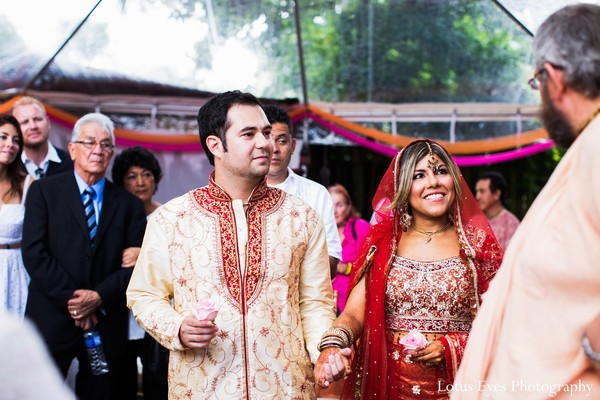 Ceremony in Miami, FL Indian Fusion Wedding by Lotus Eyes Photography