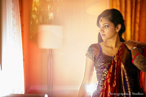 Getting ready in Chantilly, VA Indian Wedding by Photographick Studios