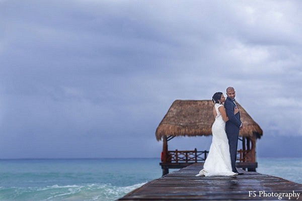 Portraits in Playa Del Carmen, Mexico Indian Destination Wedding by F5 Photography