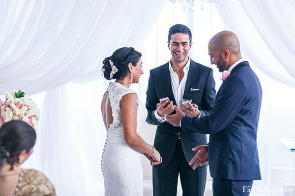 Ceremony in Playa Del Carmen, Mexico Indian Destination Wedding by F5 Photography