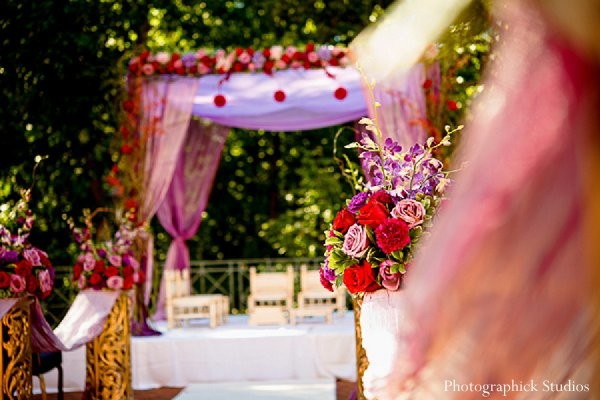 Mandap in Chantilly, VA Indian Wedding by Photographick Studios