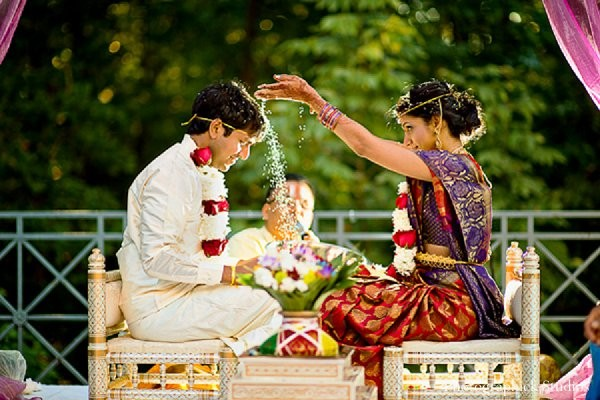 Ceremony in Chantilly, VA Indian Wedding by Photographick Studios