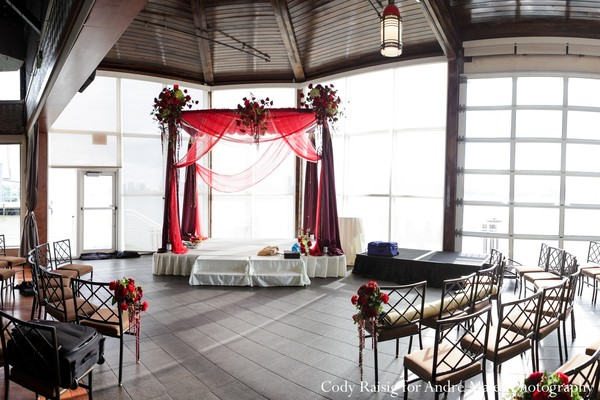 Mandap in New York, NY Indian Fusion Wedding by André Maier Photography