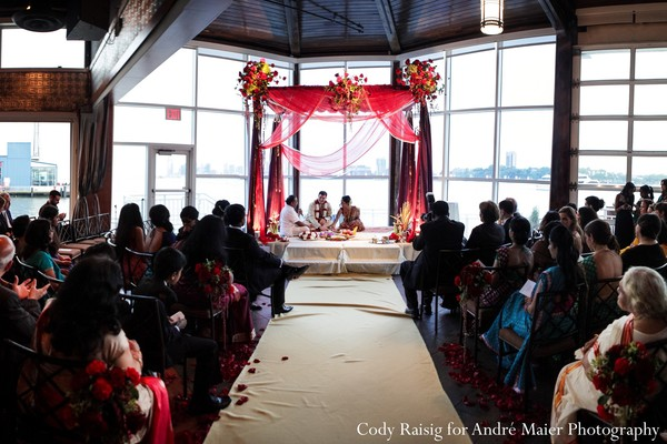 Hindu ceremony in New York, NY Indian Fusion Wedding by André Maier Photography