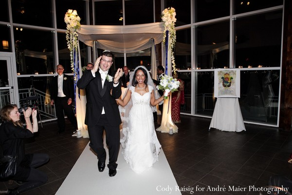 Jewish ceremony in New York, NY Indian Fusion Wedding by André Maier Photography