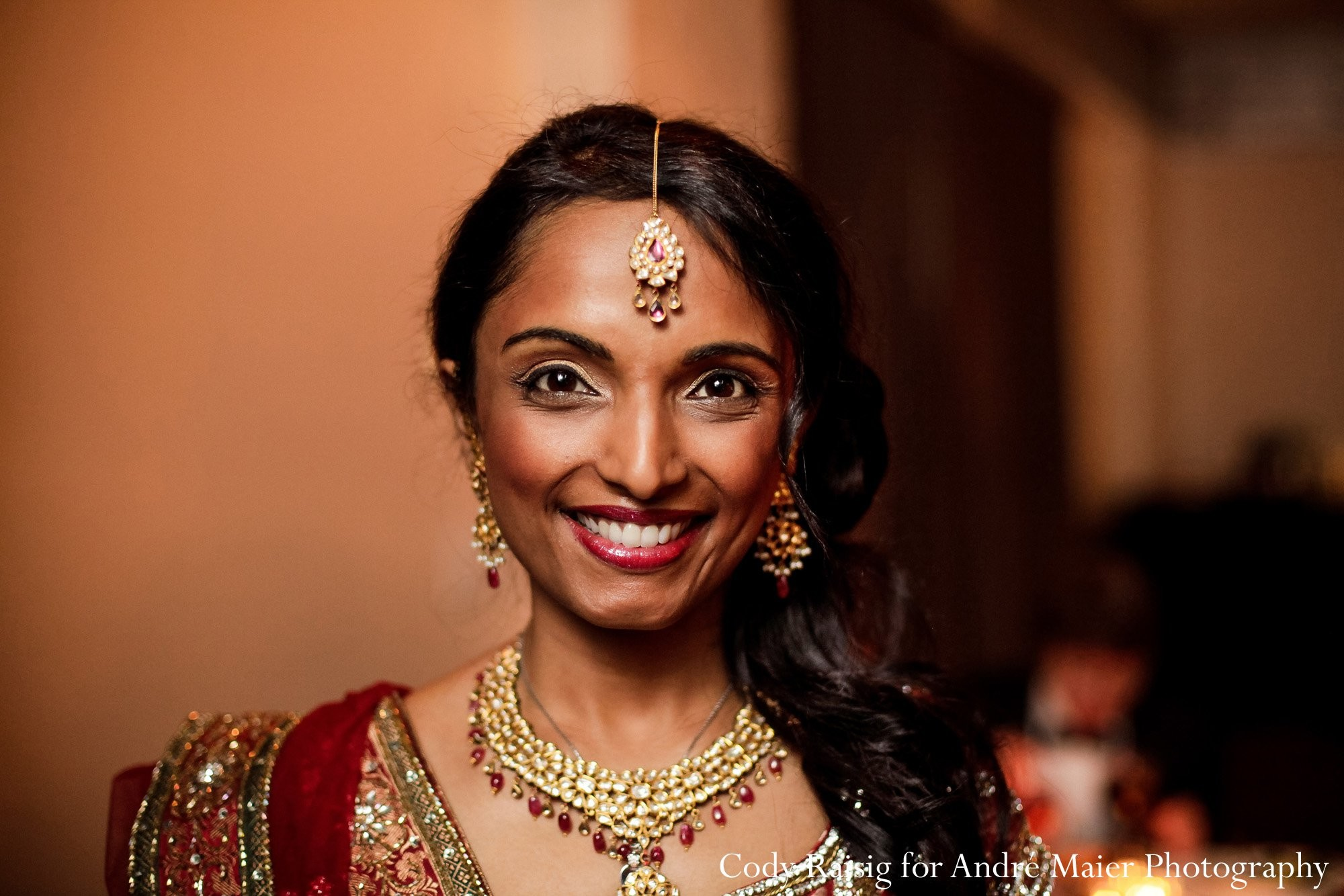 Enjoyable Hair And Makeup In New York Ny Indian Fusion Wedding By Andre Short Hairstyles For Black Women Fulllsitofus