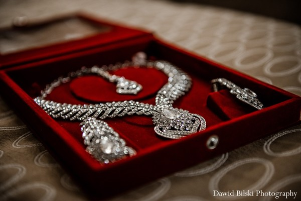 Bridal jewelry in Newark, CA Indian Engagement by Dawid Bilski Photography