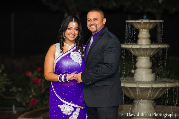 Portraits in Newark, CA Indian Engagement by Dawid Bilski Photography