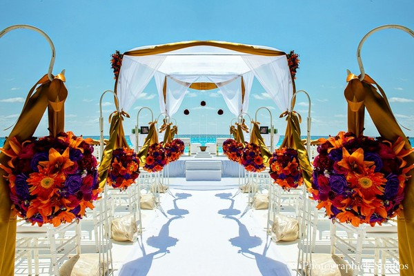 destination wedding decorations cancun mexico destination indian wedding by photographick 3498