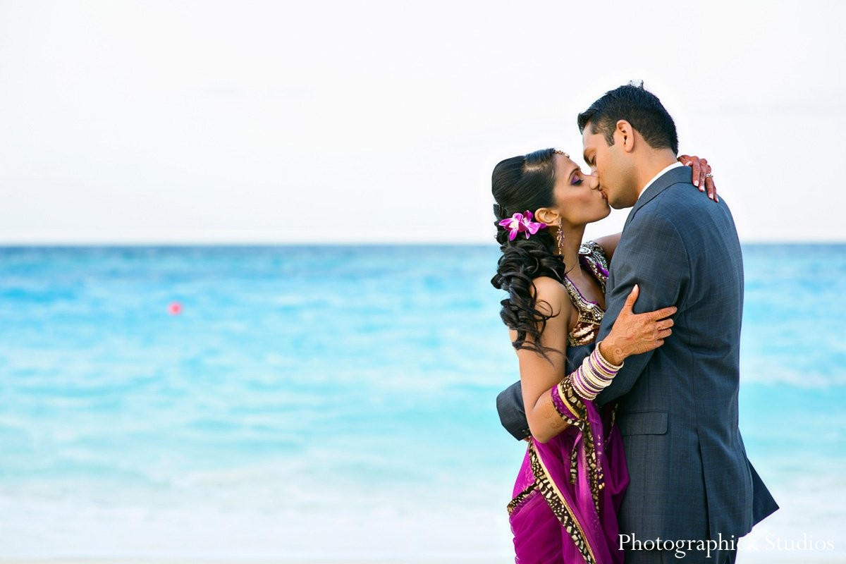Cancun, Mexico Destination Indian Wedding by Photographick Studios