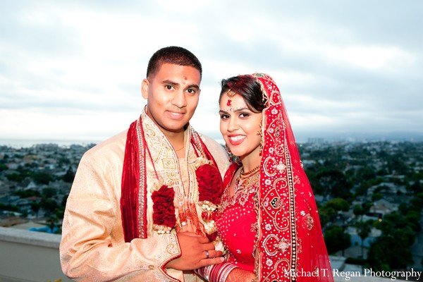 Ceremony in Marina del Rey, CA Indian Fusion Wedding by Michael T. Regan Photography