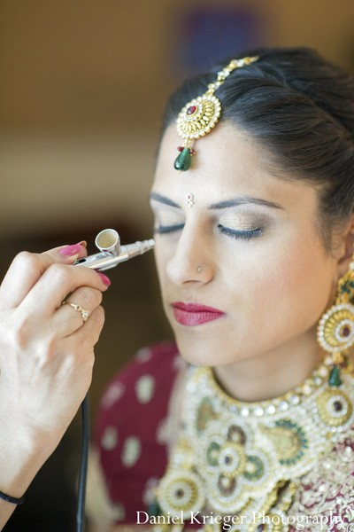 Getting ready in New York, NY Indian Wedding by Daniel Krieger Photography