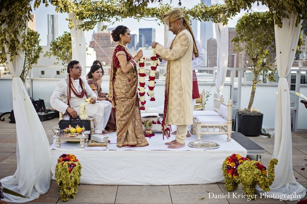 Ceremony in New York, NY Indian Wedding by Daniel Krieger Photography