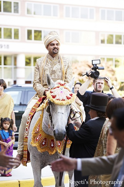 Baraat in McLean, VA Indian Wedding by Regeti's Photography
