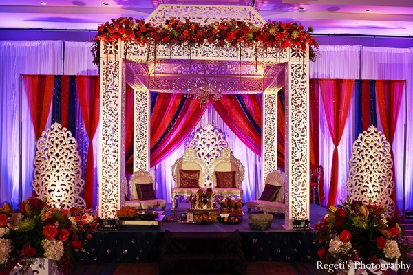 Ceremony in McLean, VA Indian Wedding by Regeti's Photography