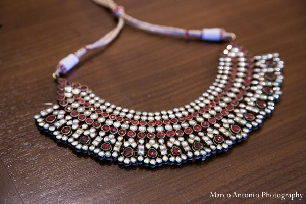 Bridal jewels in Rosemont, IL Indian Wedding by Marco Antonio Photography