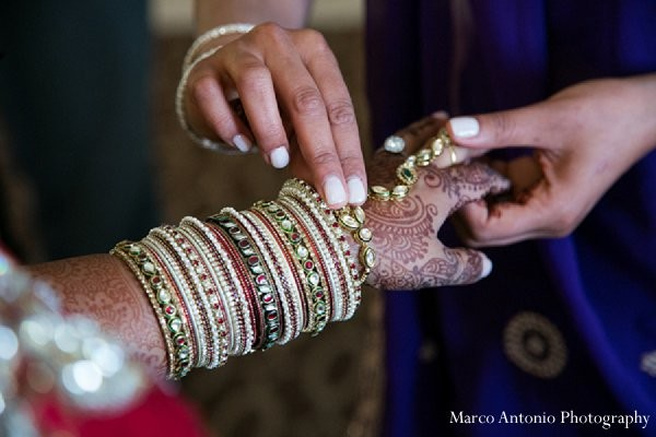 Getting ready in Rosemont, IL Indian Wedding by Marco Antonio Photography