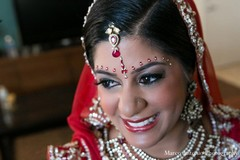 This Indian bride gets all dolled up for her fabulous wedding day!