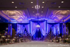 This Indian wedding ceremony features beautiful floral and decor!