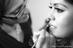 This Indian bride has a full pamper sesh before her ceremony begins!