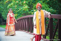 This Indian bride and groom pose for portraits before their ceremony!