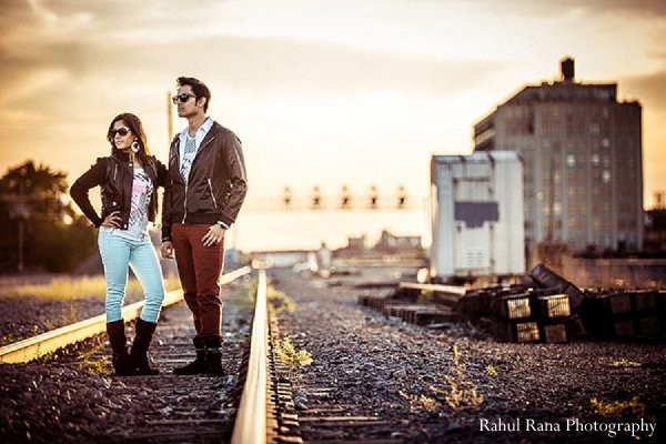 Portraits In Chicago IL Indian Engagement By Rahul Rana Photography