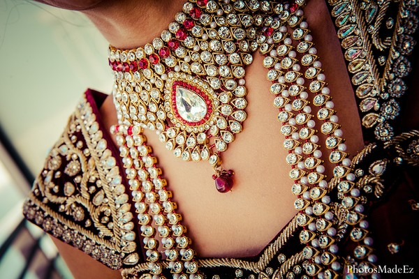 bridal jewelry in miami fl indian fusion wedding by