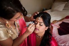 This Indian bride gets all dolled up before her beautiful ceremony!