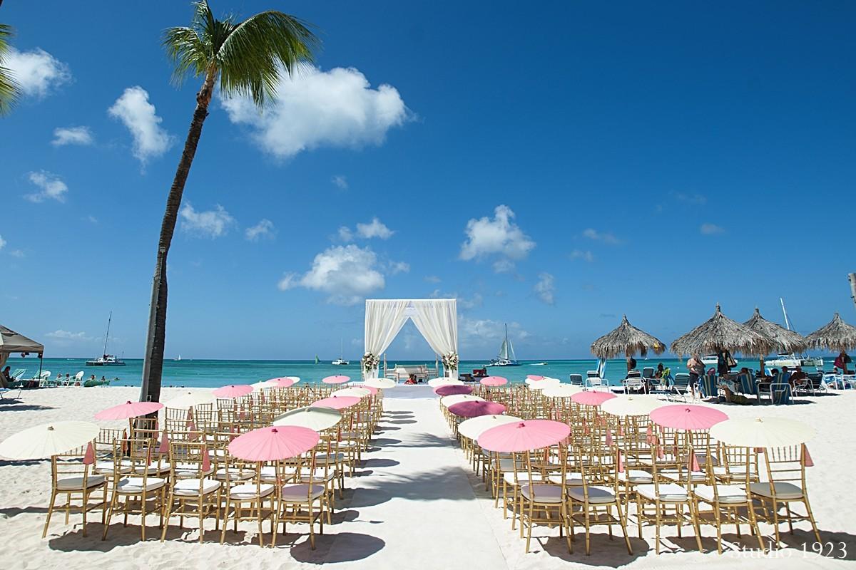 Palm Beach Aruba Destination Indian Wedding By Studio 1923