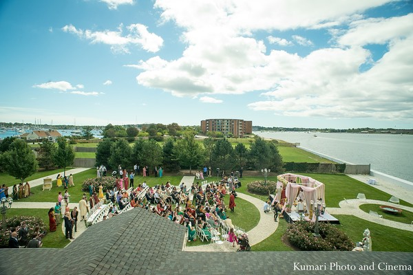 Ceremony in Newport, RI Indian Wedding by Kumari Photo and Cinema