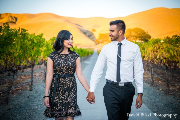Engagement portraits in Livermore, CA Indian Engagement by Dawid Bilski Photography