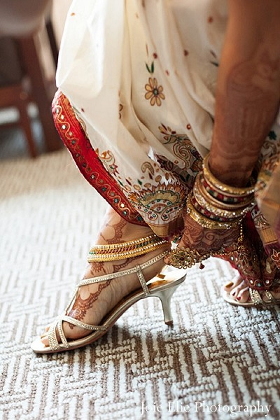 Getting ready in Philadelphia, PA Indian Wedding by Joie Elie Photography