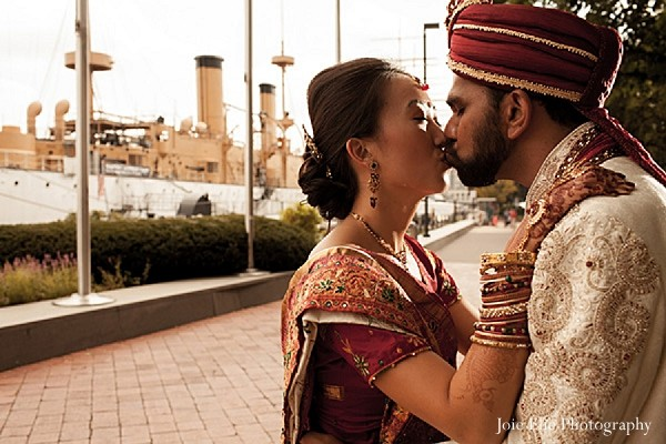 Portraits in Philadelphia, PA Indian Wedding by Joie Elie Photography