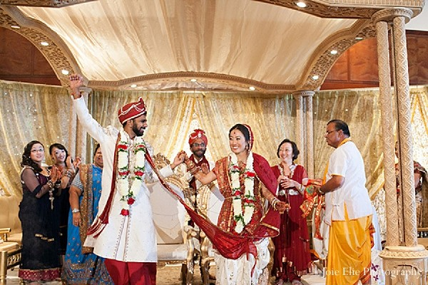 Ceremony In Philadelphia PA Indian Wedding By Joie Elie Photography