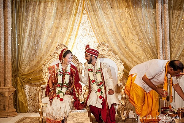 Ceremony in Philadelphia, PA Indian Wedding by Joie Elie Photography