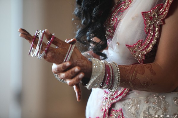 Getting ready in New Jersey, NJ Indian Wedding by Sunny Image