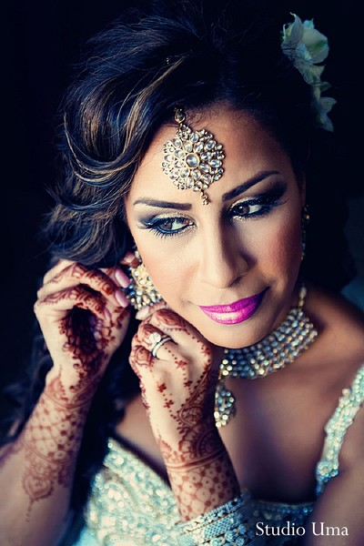Getting ready in Houston, TX Indian Fusion Wedding by Studio Uma