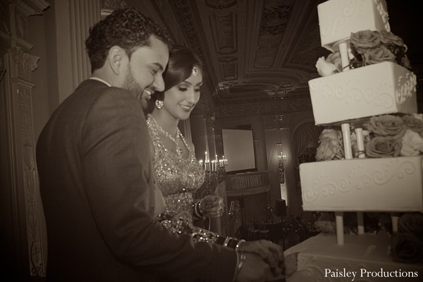Reception in Fresno, CA Indian Wedding by Paisley Productions