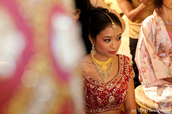 Getting ready in Long Island, NY Indian Fusion Wedding by Jay Seth Photography