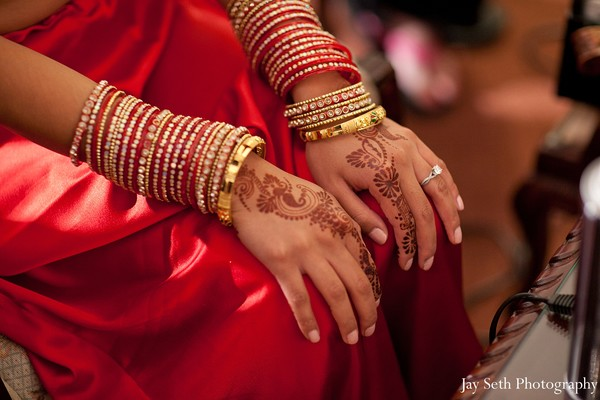 Mehndi and bridal jewels in Long Island, NY Indian Fusion Wedding by Jay Seth Photography