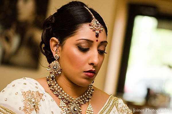 Getting ready in Colorado Springs, CO Indian Fusion Wedding by Tina Joiner Photography